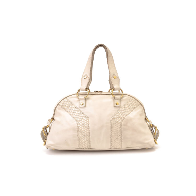 Lxrandco Guarantees This Is An Authentic Vintage Yves Saint Laurent Handbag Elegant Was Crafted In Leather Beautiful Ivory