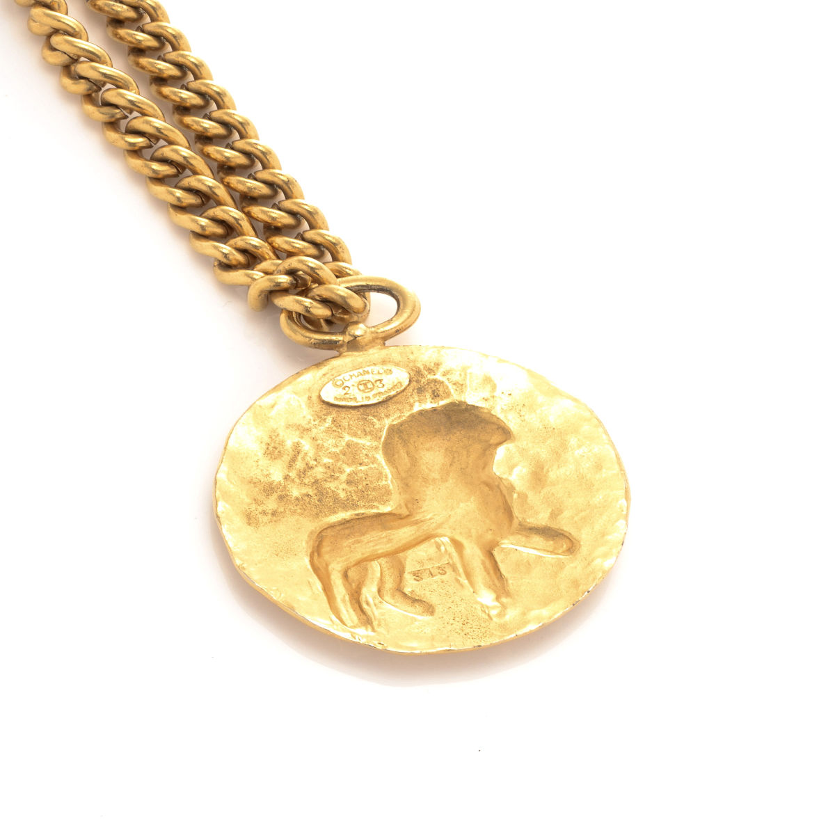 medallion rebecca bree statement sale gold plated celsus library shop garmentory necklace of necklaces card pamela
