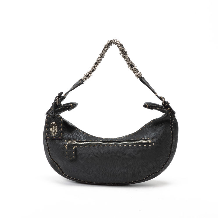 5a88435d79 ... inexpensive lxrandco guarantees this is an authentic vintage fendi  small selleria chain hobo bag messenger crossbody ...
