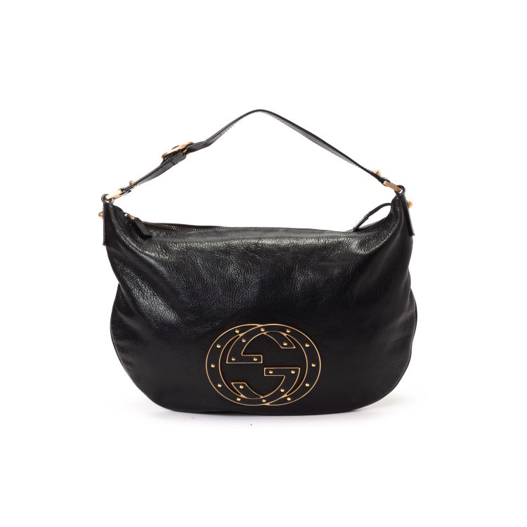 f7727c7508bbdb LXRandCo guarantees the authenticity of this vintage Gucci Studded Blondie  messenger & crossbody bag. Crafted in leather, this chic messenger &  crossbody ...