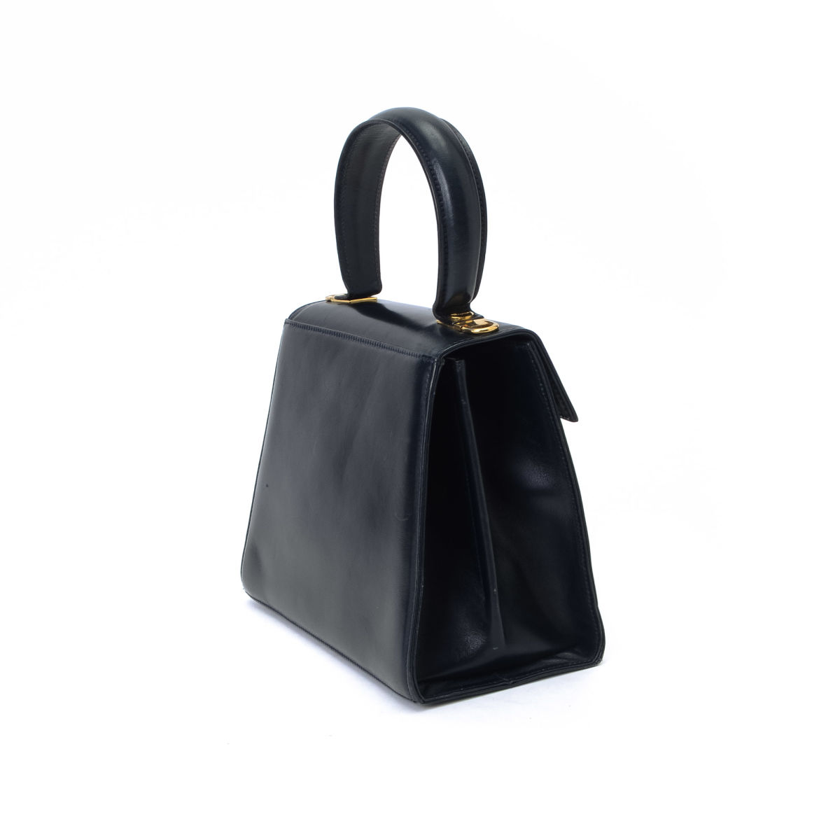 0ed7c1b193ab Gancini Top Handle Bag. Free Shipping. LXRandCo guarantees the authenticity  of this vintage Ferragamo Top Handle handbag. This classic handbag in navy  ...