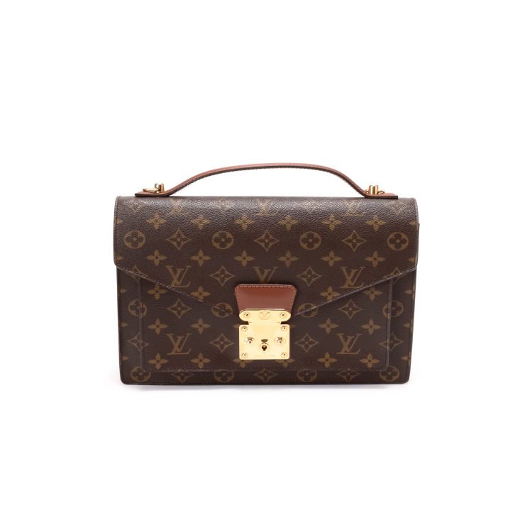 d26939b2ec30 The authenticity of this vintage Louis Vuitton Monceau handbag is  guaranteed by LXRandCo. This stylish handbag in brown is made in monogram  coated canvas.