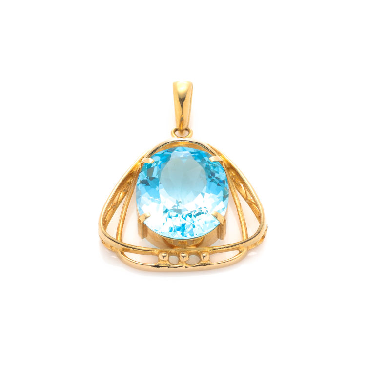 Estate jewelry topaz pendant 18k gold lxrandco pre owned luxury the authenticity of this vintage estate jewelry topaz top pendant is guaranteed by lxrandco this iconic pendant was crafted in 18k gold in beautiful light mozeypictures Gallery