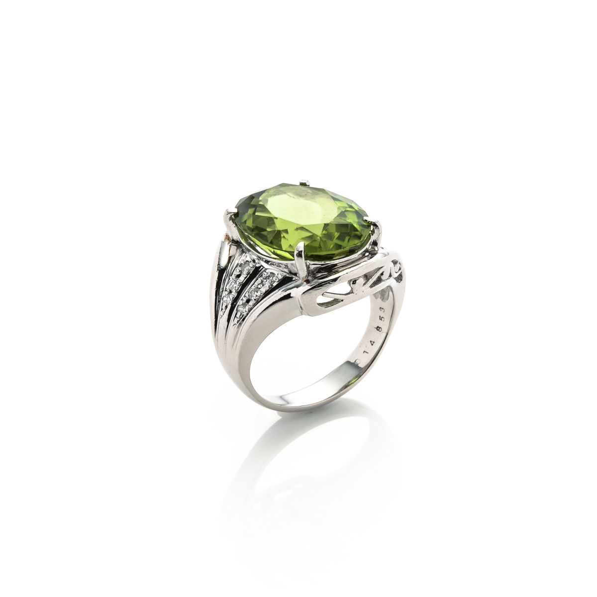 sterling silver love green womans stones rings band gothic medieval engagement ladies princess with ring peridot wedding