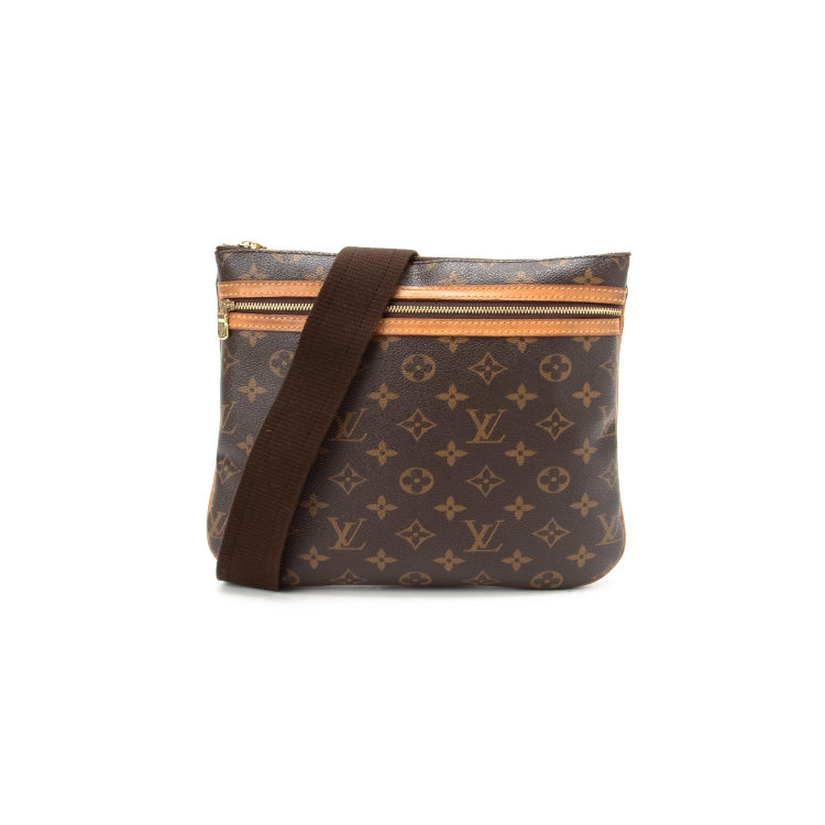 e4d0e1976bc4 LXRandCo guarantees this is an authentic vintage Louis Vuitton Pochette  Bosphore messenger   crossbody bag. This stylish hobo bag was crafted in  monogram ...