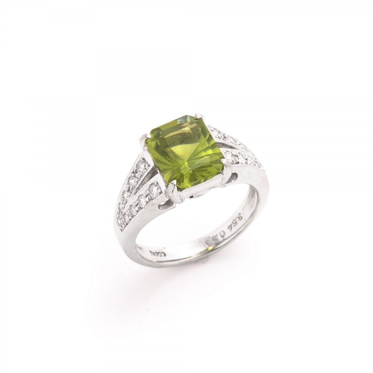 diamond peridot rings products olivacom engagement res ring web