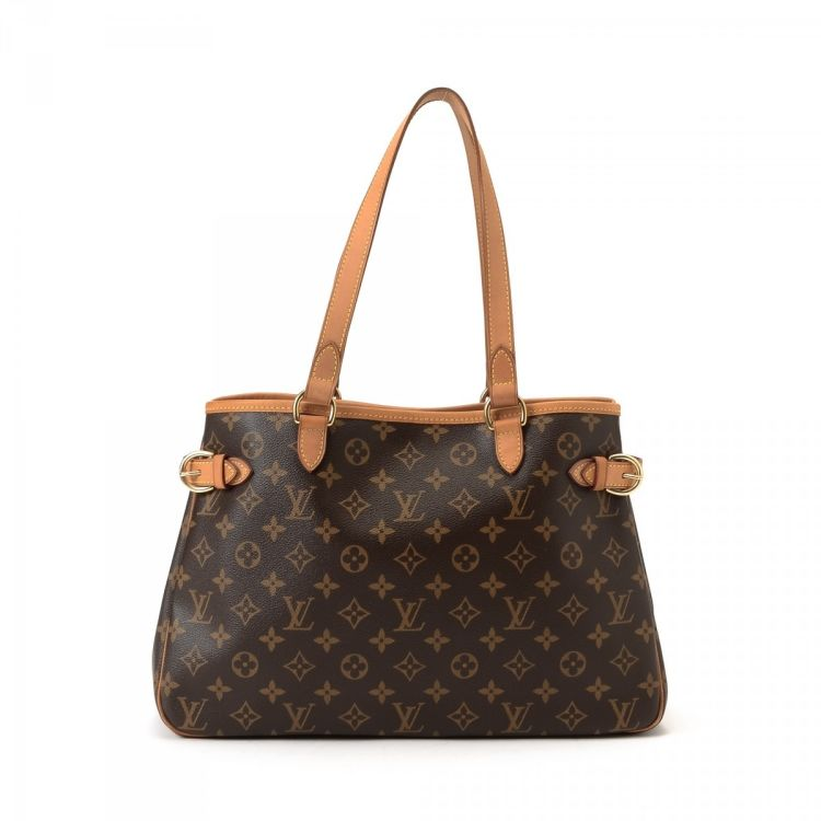 4e3e17f0db53 LXRandCo guarantees this is an authentic vintage Louis Vuitton Batignolles  Horizontal tote. Crafted in monogram leather, this practical work bag comes  in ...