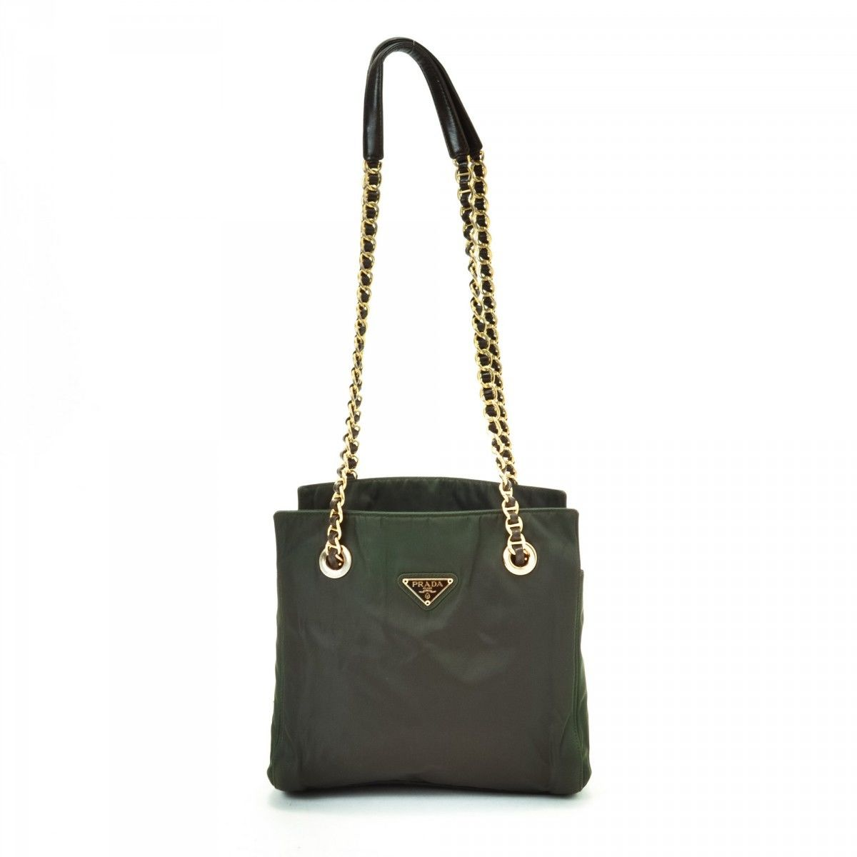 e46d172afc7b ... low price prada tessuto chain shoulder bag nylon lxrandco pre owned  luxury vintage 170f1 319a4