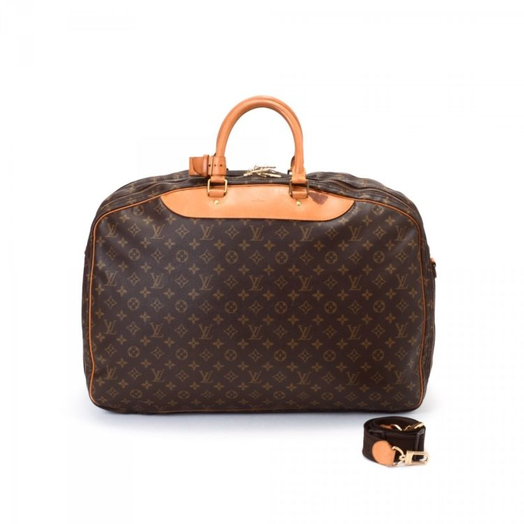 LXRandCo guarantees this is an authentic vintage Louis Vuitton Alize 2  Poches travel bag. This signature carry on was crafted in monogram coated  canvas in ... d245b1bd6164d