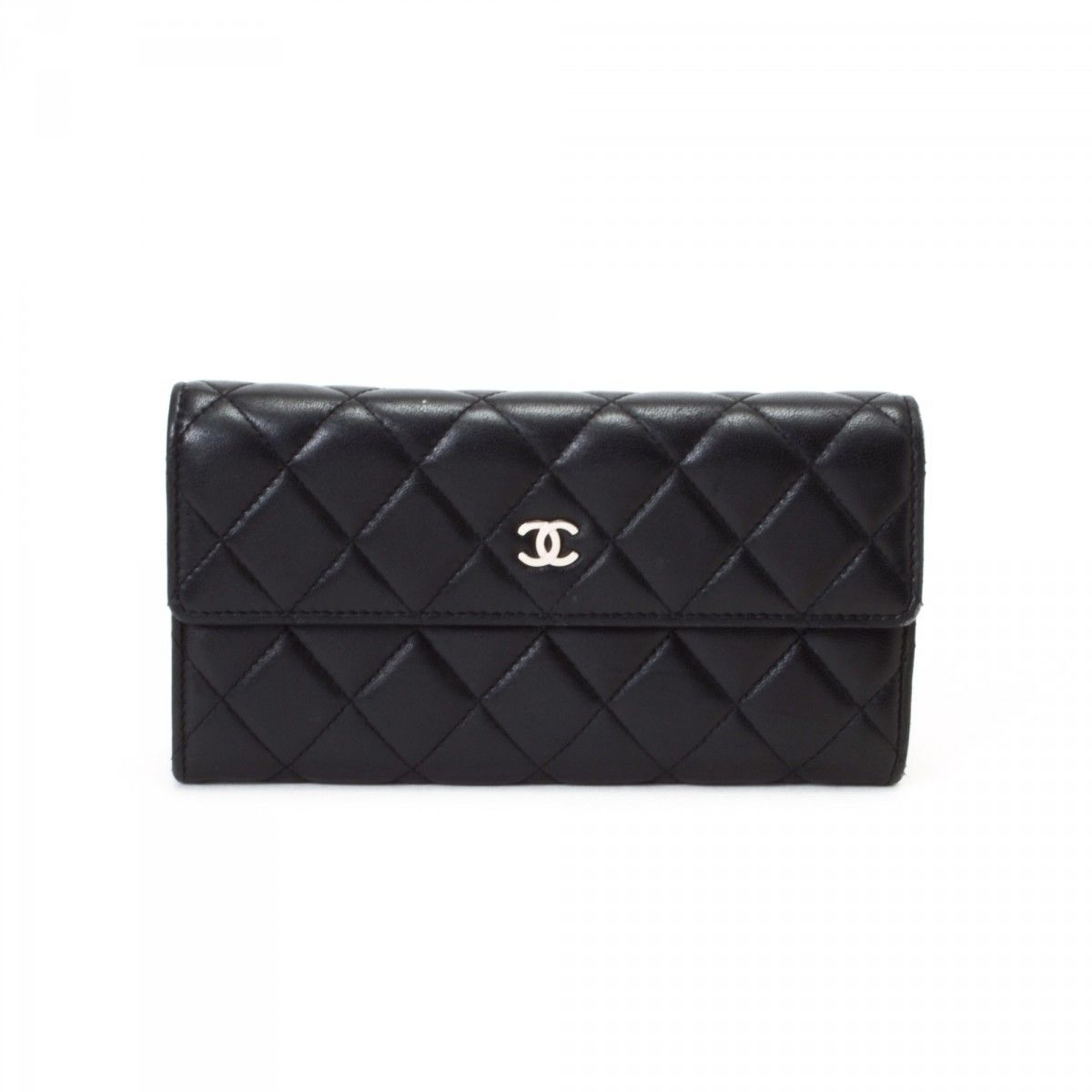 Chanel Quilted Long Wallet Lambskin Lxrandco Pre Owned