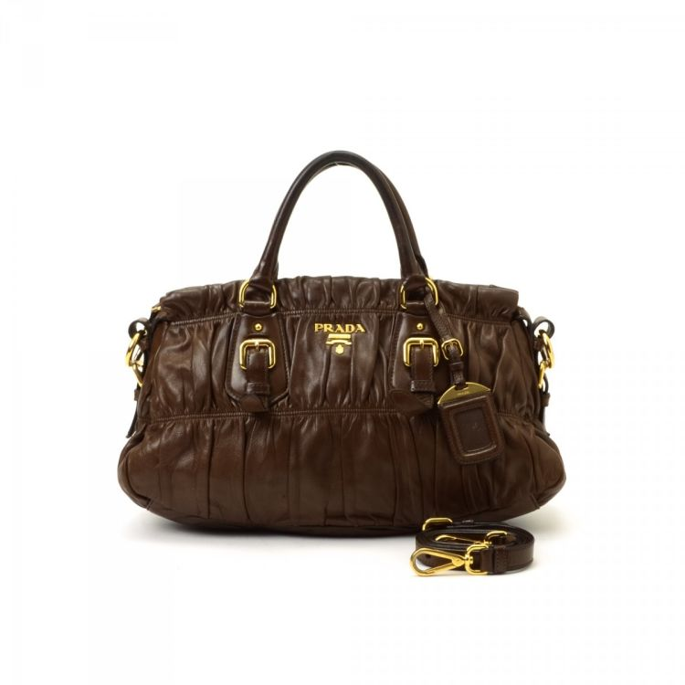 fa27db904f74 ... new arrivals lxrandco guarantees this is an authentic vintage prada  gaufre tote handbag. crafted in