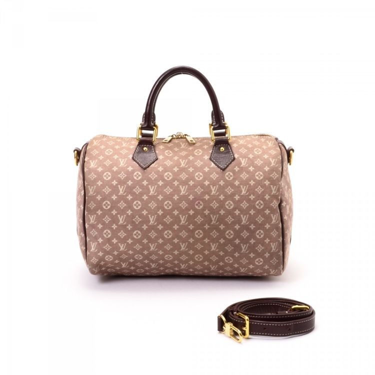 a91a6503581a ... vintage Louis Vuitton Speedy 30 Bandouliere travel bag is guaranteed by  LXRandCo. This everyday luggage was crafted in monogram idylle canvas in  sepia.