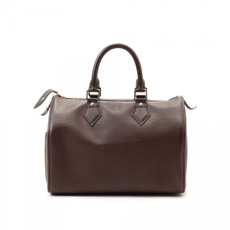 LXRandCo guarantees this is an authentic vintage Louis Vuitton Speedy 25  travel bag. Crafted in epi leather bd88f5e7254d1