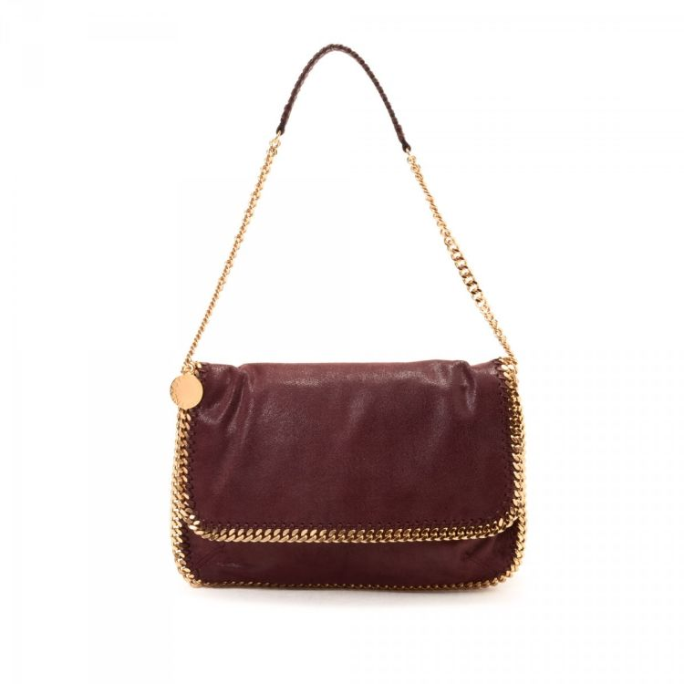 The authenticity of this vintage Stella McCartney Falabella Shaggy Deer shoulder  bag is guaranteed by LXRandCo. This stylish purse in bordeaux is made of ... 4702feaabde70