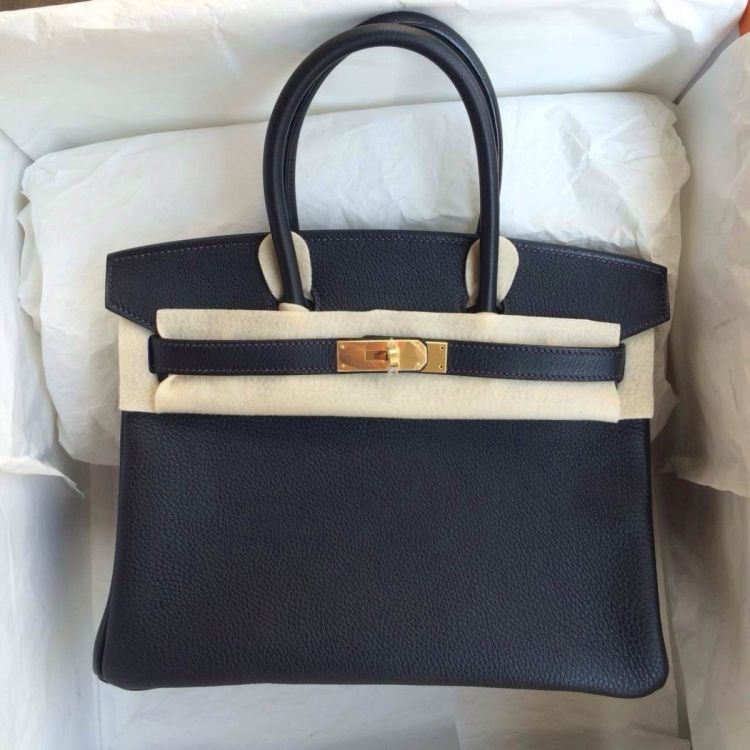 156e7b74eb92 LXRandCo guarantees this is an authentic vintage Hermès Birkin 30 Black GHW  handbag. Crafted in togo leather