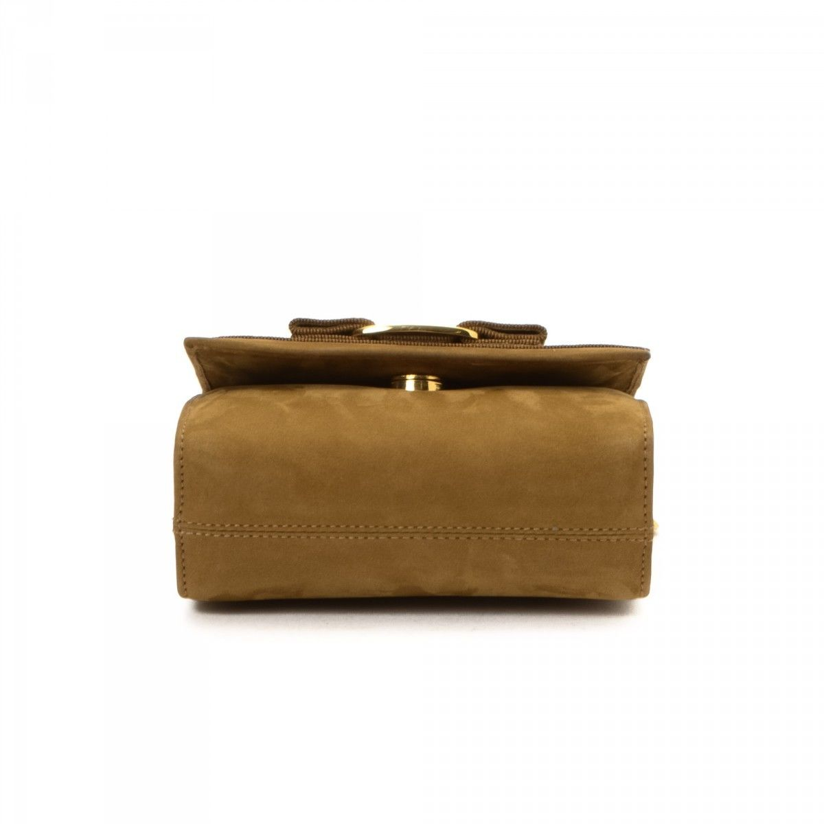 Ferragamo Vara Bow Two Way Pouch Suede - LXRandCo - Pre-Owned Luxury ... 4a5ebb3066622