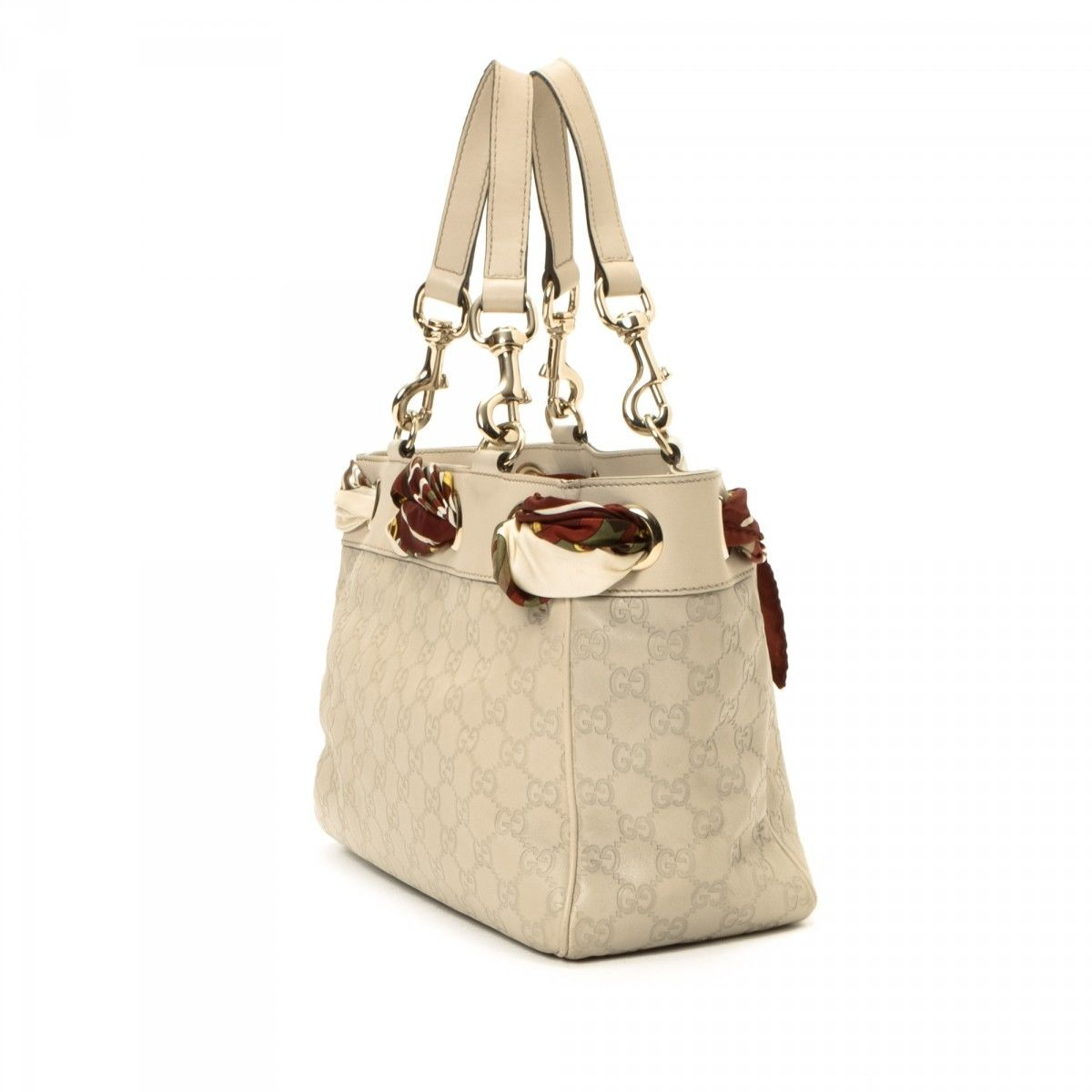 9e5ace621a09 Gucci Tote with Scarf Guccissima Leather - LXRandCo - Pre-Owned ...