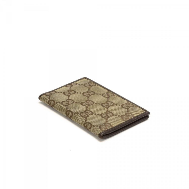 Gucci Card Holder GG Canvas - LXRandCo - Pre-Owned Luxury Vintage