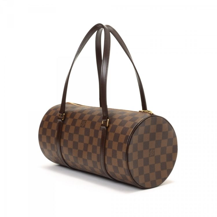 0193fb77002c LXRandCo guarantees this is an authentic vintage Louis Vuitton Papillon 30  handbag. This everyday handbag in brown is made in damier ebene coated  canvas.