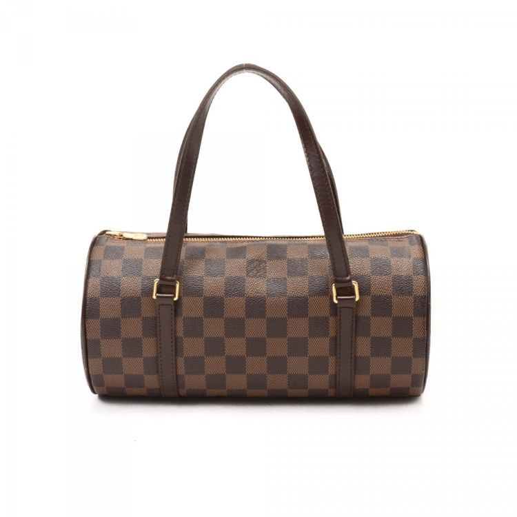 The authenticity of this vintage Louis Vuitton Papillon 26 handbag is  guaranteed by LXRandCo. This everyday pocketbook in brown is made in damier  ebene ... 7bd9603203590