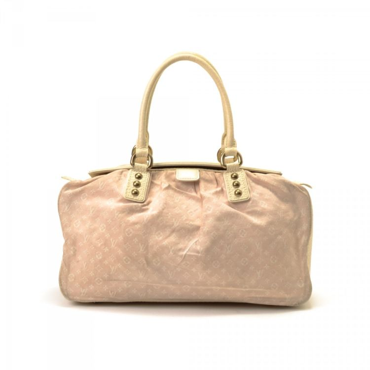 89380a487178 ... the authenticity of this vintage Louis Vuitton Trapeze GM handbag. This  luxurious handbag was crafted in monogram mini lin canvas in light pink.