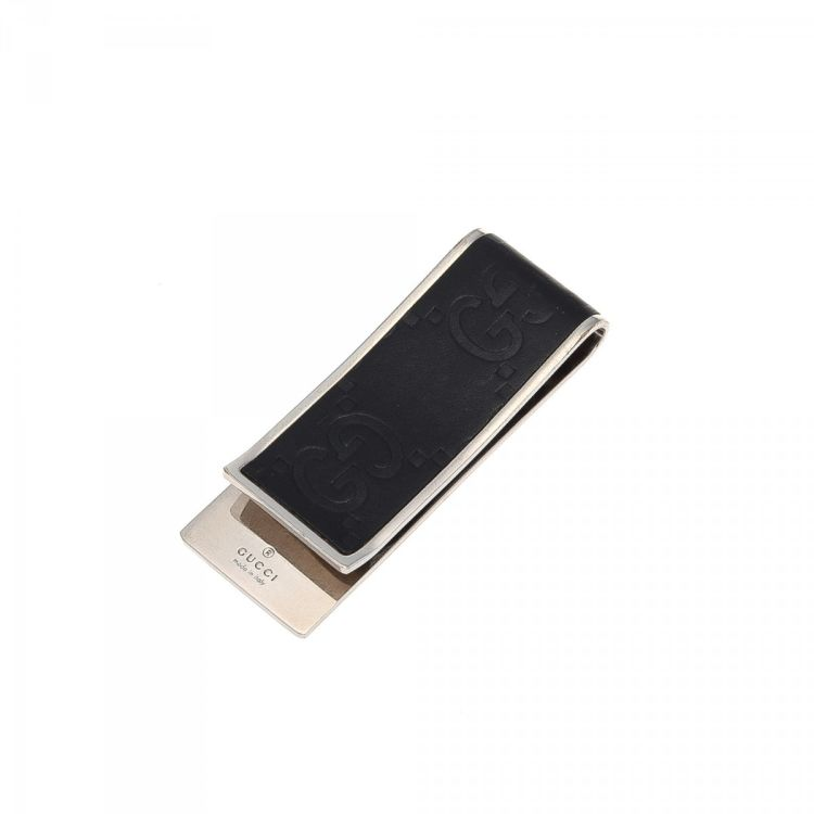 549268e56d2 Gucci Guccissima Money Clip Guccissima Palladium plated brass ...