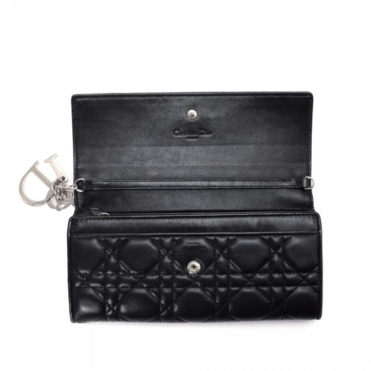 b3bf6b6d979 The authenticity of this vintage Dior Lady Dior Rendez-vous wallet is  guaranteed by LXRandCo. Crafted in cannage lambskin, this classic compact  wallet comes ...