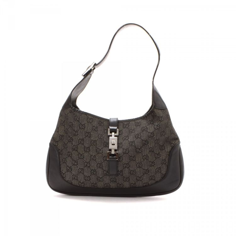 4e7502b1891 LXRandCo guarantees this is an authentic vintage Gucci Jackie Hobo Bag  shoulder bag. Crafted in gg canvas