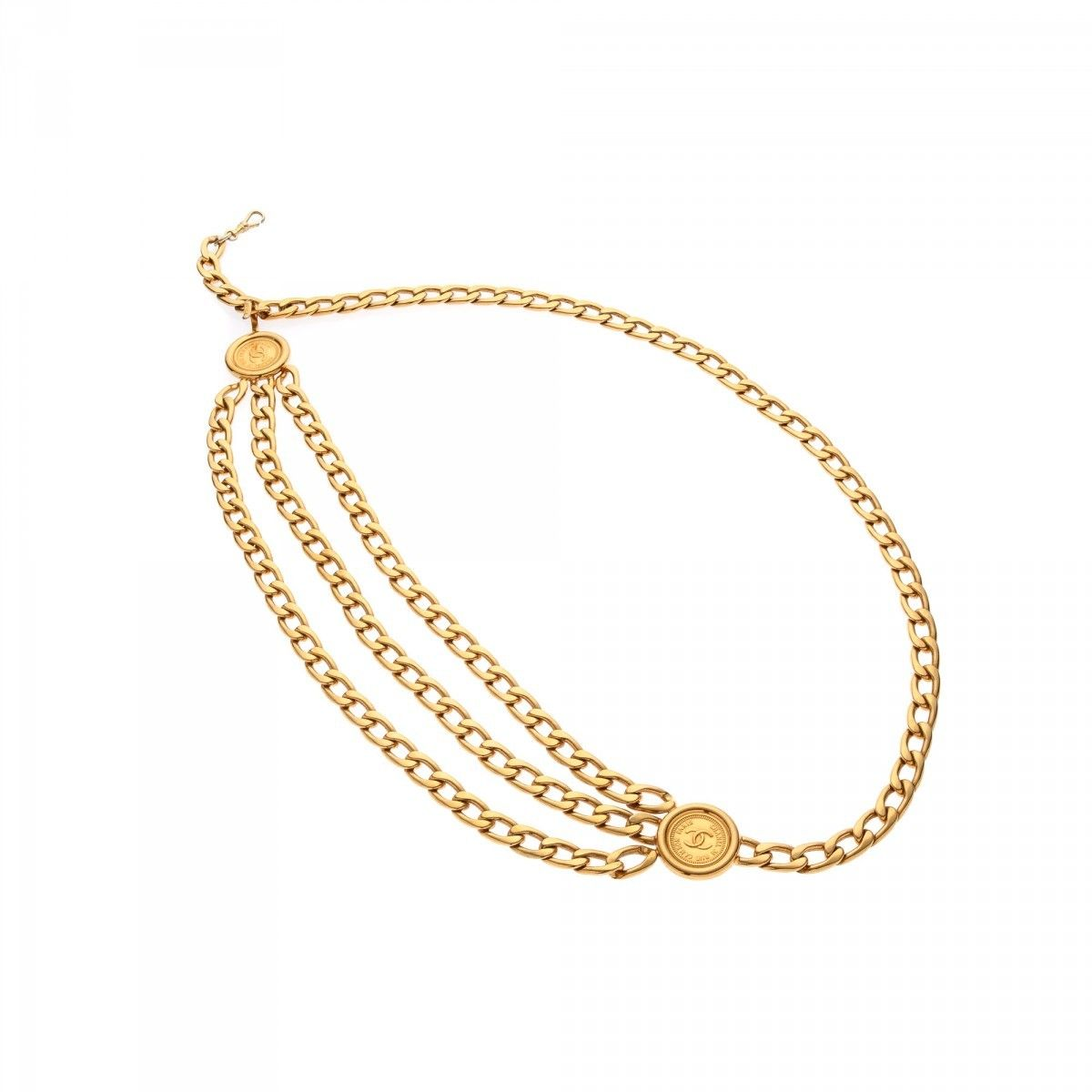 26807d61616165 Chanel Medallion Chain Belt 18k gold plated on brass - LXRandCo ...