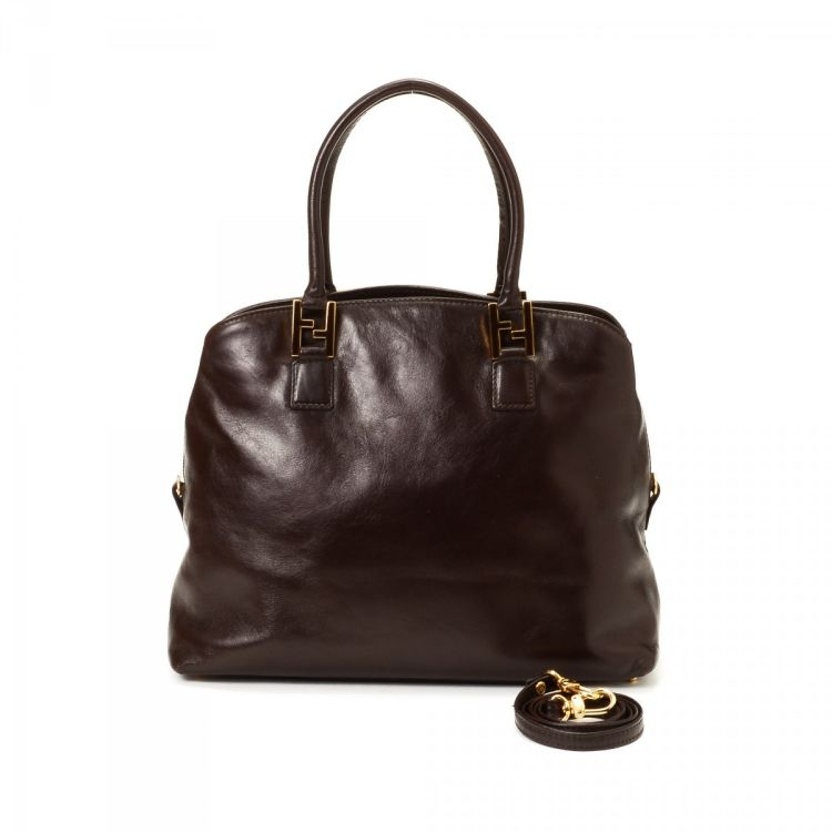 d9a0d1f46d53 ... canada fendi two way bag leather lxrandco pre owned luxury vintage  d8a79 d19db