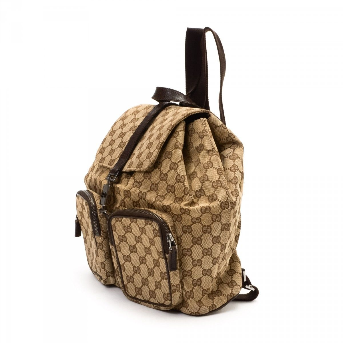 1c4726ad5ec Gucci Backpack. LXRandCo guarantees the authenticity of this vintage Gucci  backpack. This stylish knapsack comes in beautiful canvas. Fair condition   ...
