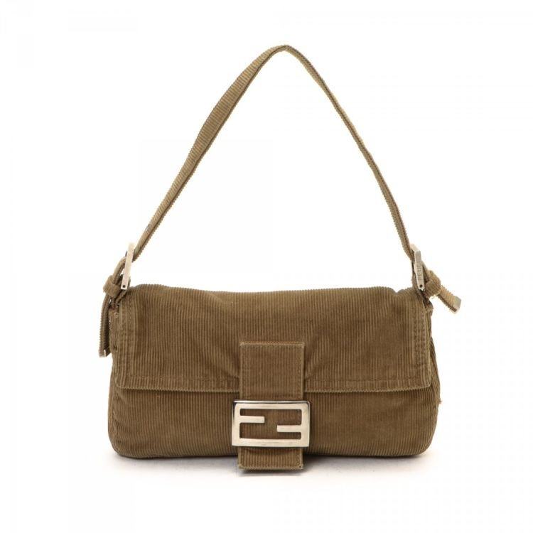 d304b371994c LXRandCo guarantees the authenticity of this vintage Fendi Baguette  shoulder bag. This lovely pocketbook comes in corduroy. Fair condition  (B)