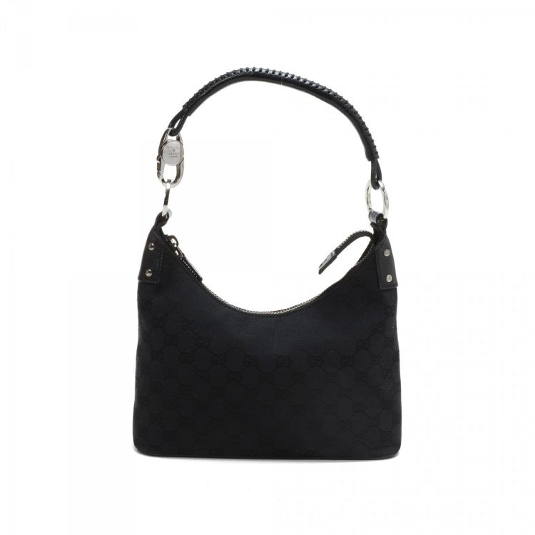 3206d4abb LXRandCo guarantees this is an authentic vintage Gucci Hobo Bag shoulder bag.  This everyday shoulder bag in beautiful black is made in gg canvas.