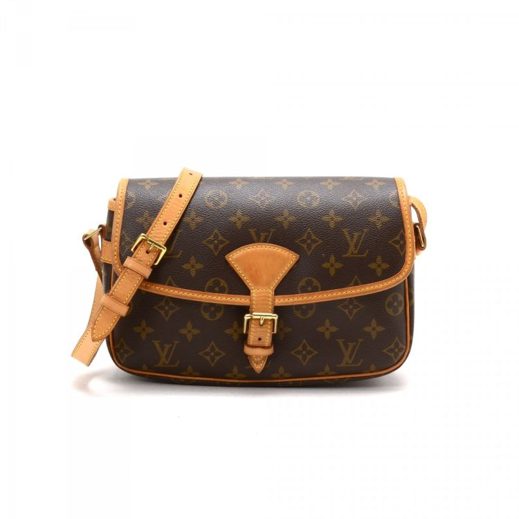 e281c1367de8 ... Louis Vuitton Sologne messenger   crossbody bag is guaranteed by  LXRandCo. Crafted in monogram coated canvas