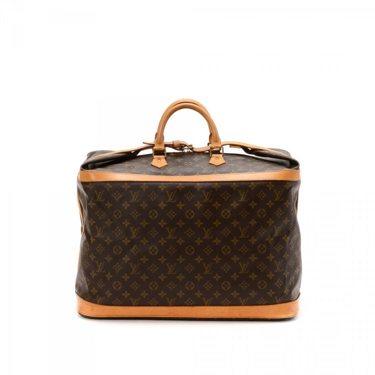 LXRandCo guarantees the authenticity of this vintage Louis Vuitton Cruiser  Bag 50 travel bag. This signature overnight bag comes in beautiful coated  canvas. 8872c4d425