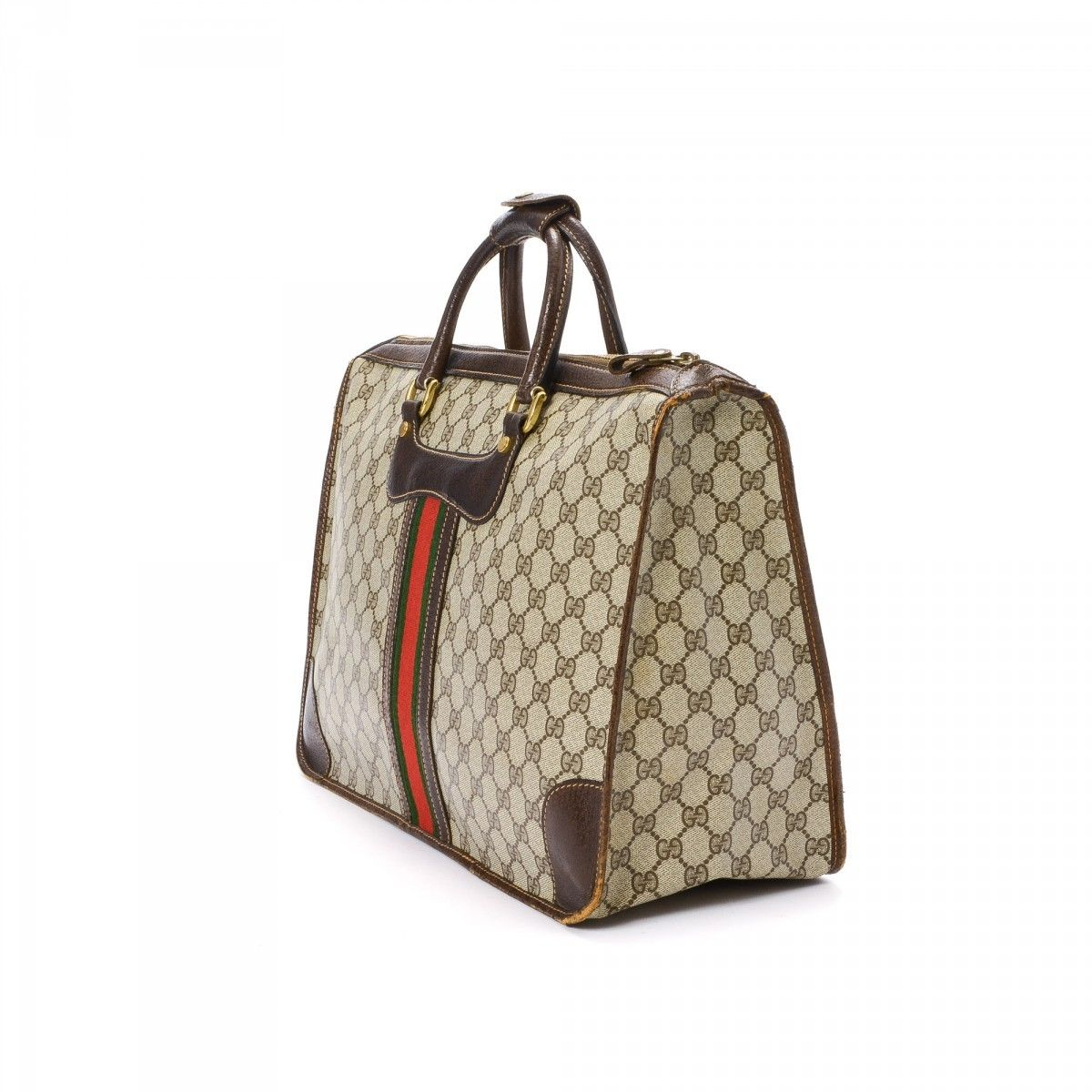 cc4ff796b80f Gucci Business Bag. The authenticity of this vintage Gucci Business Bag  briefcase is guaranteed by LXRandCo. Crafted in gg coated canvas ...