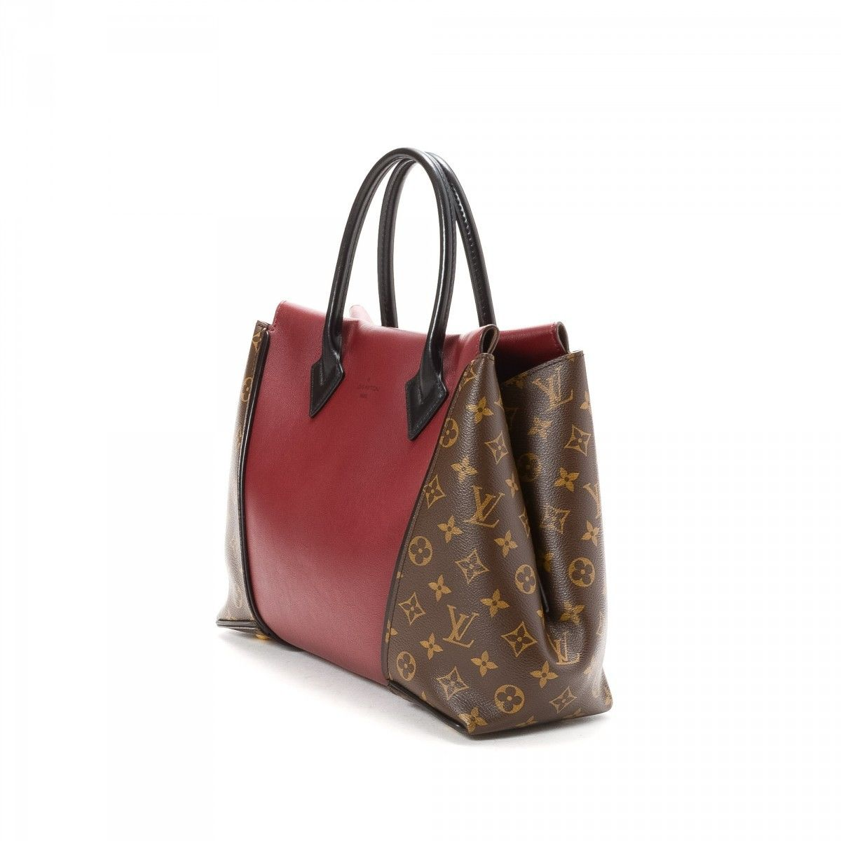 0d5711c8a064 Louis Vuitton W Tote PM Cuir Orfevre Coated Canvas - LXRandCo - Pre ...