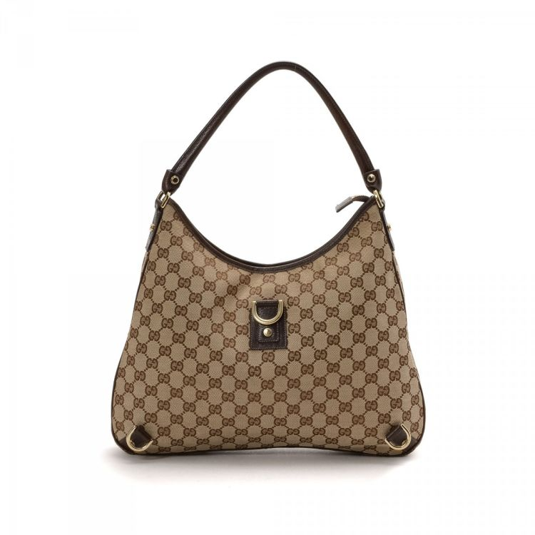 763a37ea5854 LXRandCo guarantees this is an authentic vintage Gucci Abbey Hobo Bag  shoulder bag. This practical bag comes in canvas. Good condition* (AB)