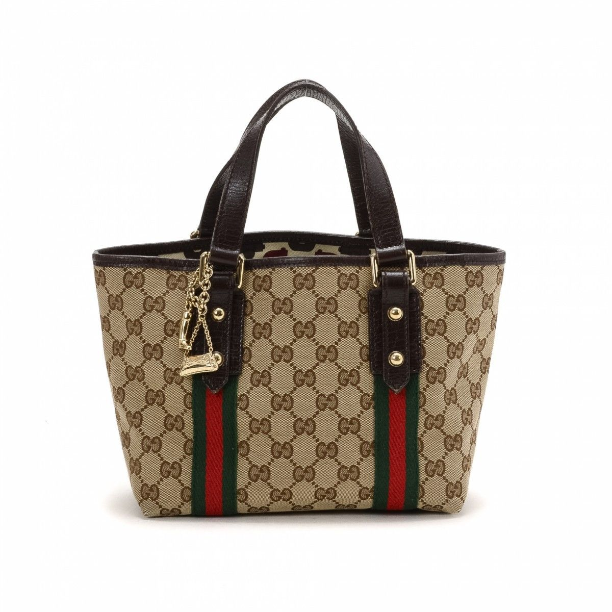 0d86a041b190 Gucci Small Jolicoeur Tote Canvas - LXRandCo - Pre-Owned Luxury Vintage