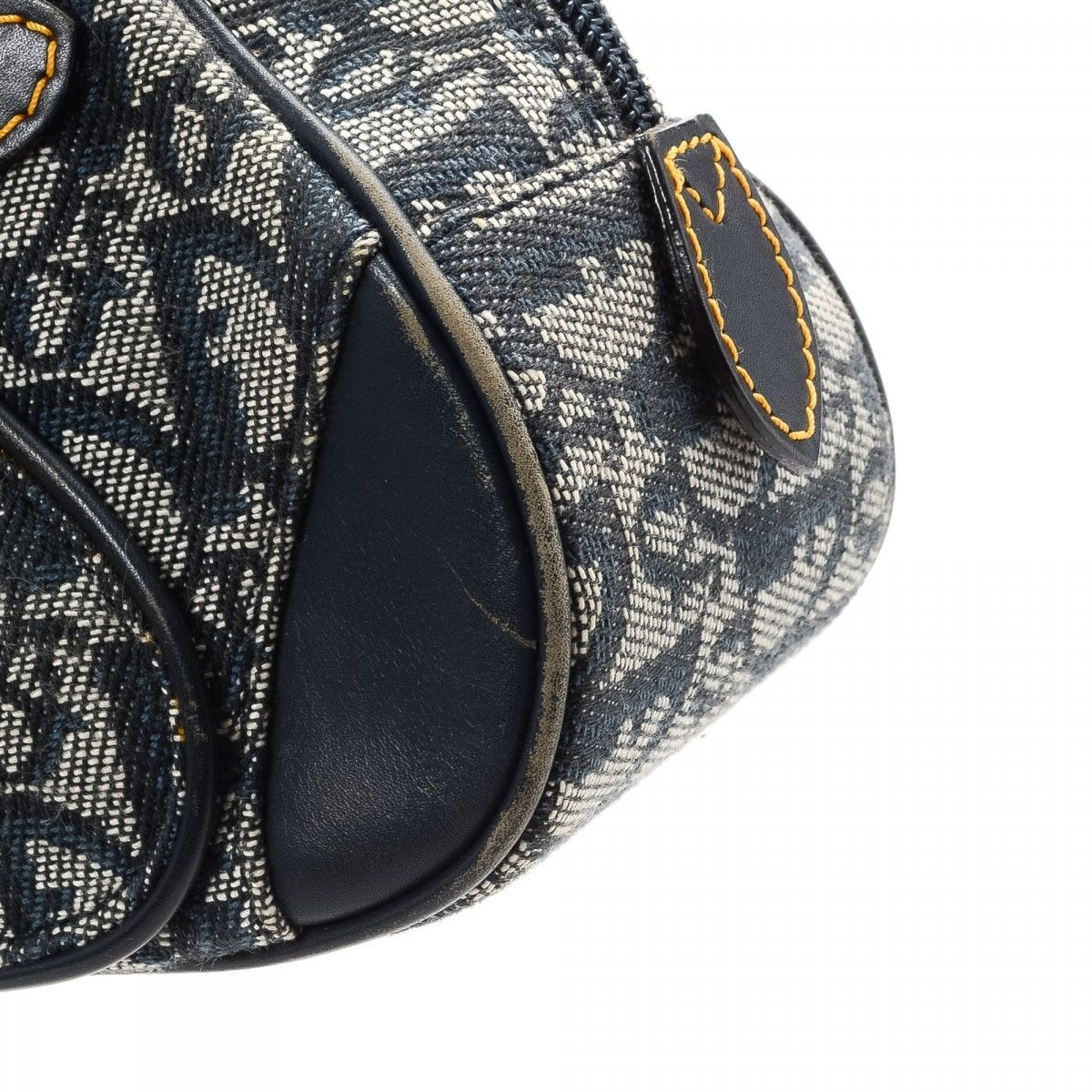 0759c8859 Dior Saddle Bowling Mini Bag Trotter Canvas - LXRandCo - Pre-Owned ...