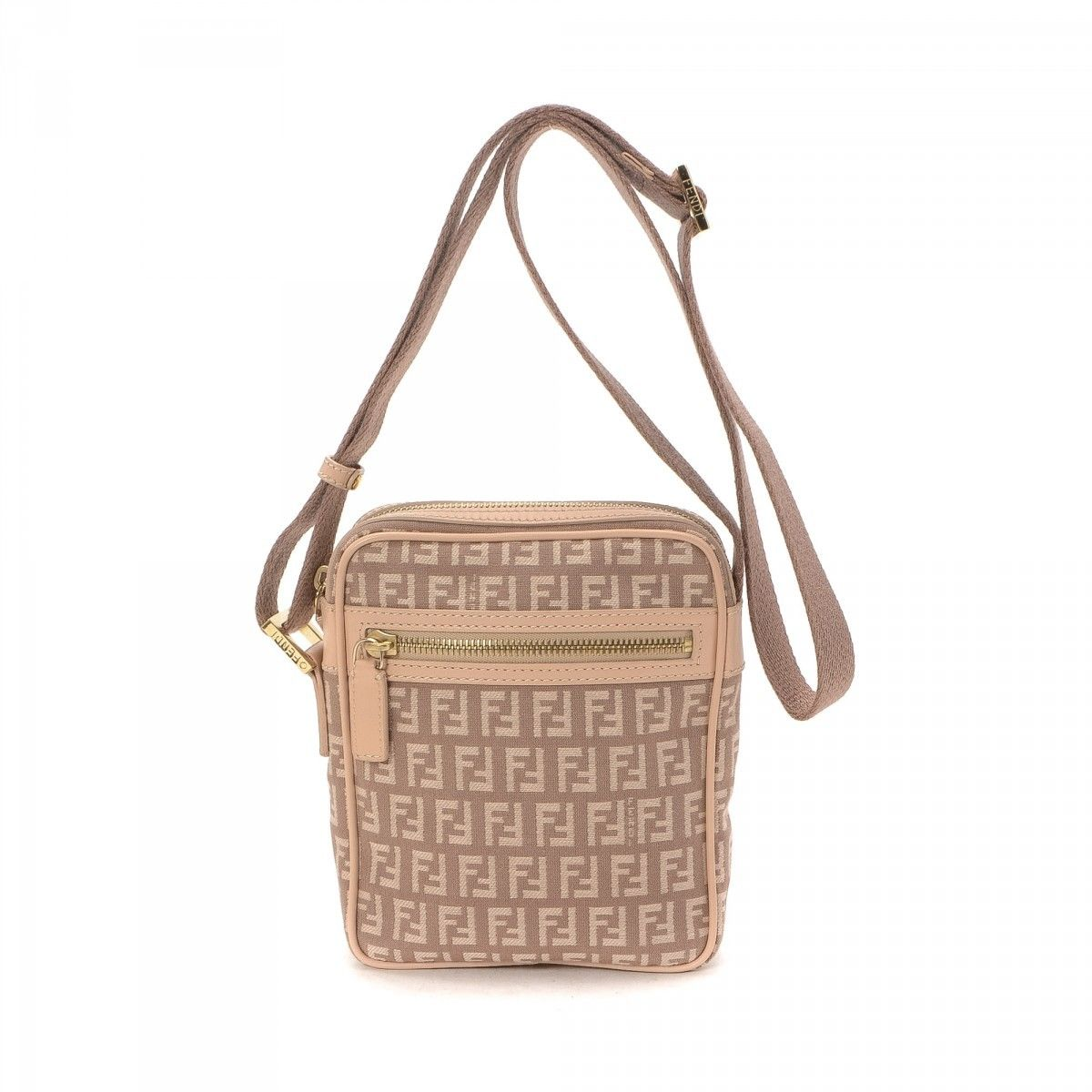 0b06e797701e Fendi Zucchino Crossbody Bag Zucchino Canvas - LXRandCo - Pre-Owned ...