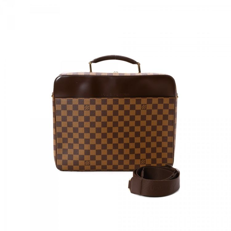 The authenticity of this vintage Louis Vuitton Sabana Computer bag  briefcase is guaranteed by LXRandCo. Crafted in damier ebene coated canvas 1d171bf18693a