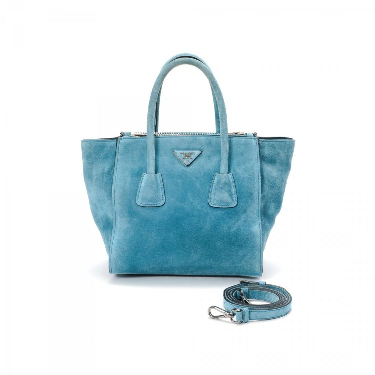 ... closeout prada tote bag suede lxrandco pre owned luxury vintage 5d4a1  fe05d 42e5ca49a1e91