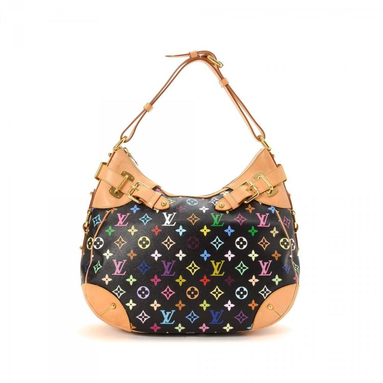e0b2ef9e38af ... guarantees this is an authentic vintage Louis Vuitton Greta shoulder bag.  This refined purse was crafted in monogram multicolore coated canvas in  black.