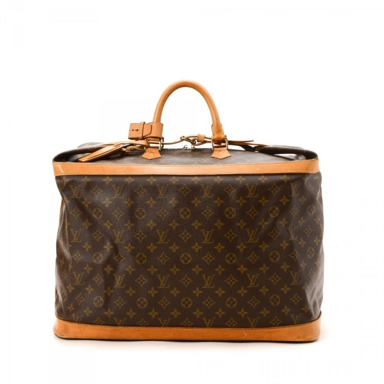 cd2aecffb01f LXRandCo guarantees the authenticity of this vintage Louis Vuitton Cruiser  Bag 50 travel bag. This exquisite garment carrier comes in coated canvas.