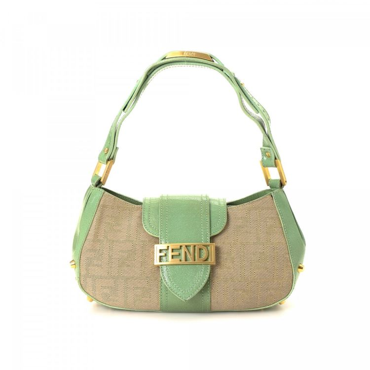 c636660bb264 LXRandCo guarantees the authenticity of this vintage Fendi handbag. Crafted  in zucca canvas