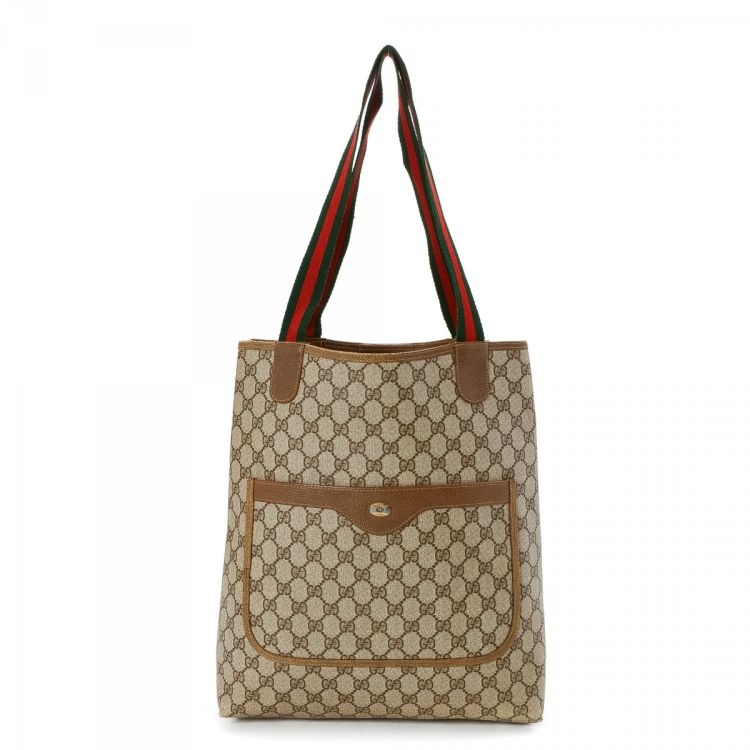 b50ef0a813d LXRandCo guarantees this is an authentic vintage Gucci Bag tote. This  luxurious tote bag was crafted in gg coated canvas in beautiful beige.