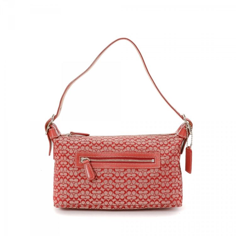 cae44f257dd LXRandCo guarantees the authenticity of this vintage Coach handbag. Crafted  in monogram canvas, this beautiful bag comes in red. Very good condition   (A)