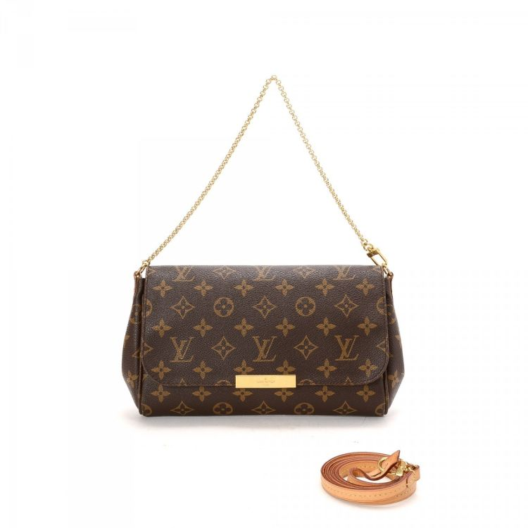 998cb448399e LXRandCo guarantees the authenticity of this vintage Louis Vuitton Favorite  MM shoulder bag. Crafted in monogram coated canvas