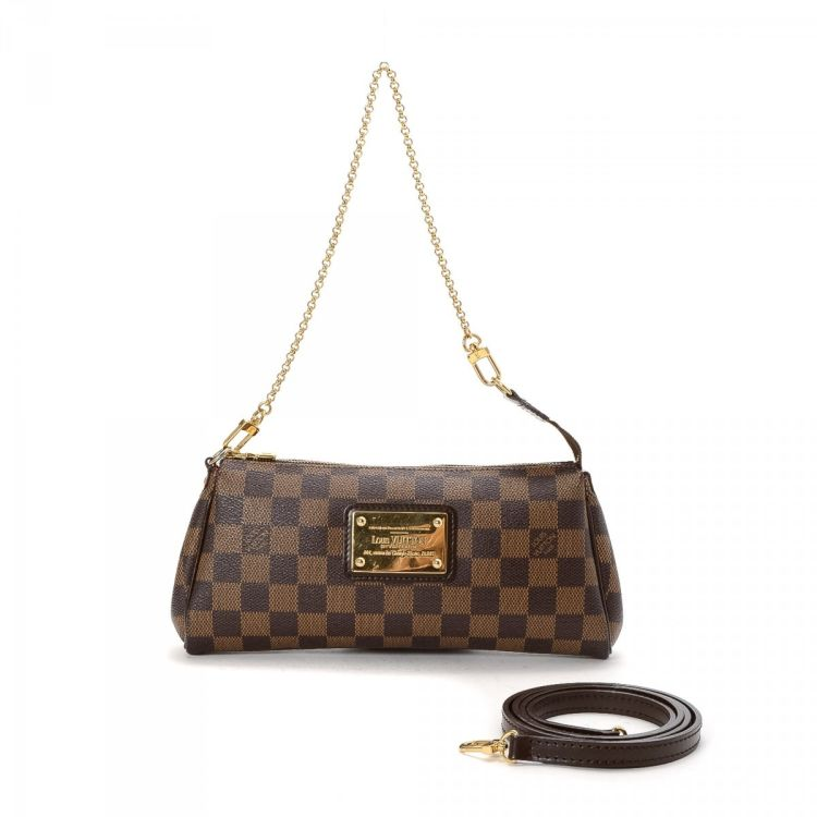 6a005450d000 LXRandCo guarantees this is an authentic vintage Louis Vuitton Eva  messenger   crossbody bag. This signature saddle bag in brown is made in damier  ebene ...
